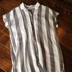 Madewell courier shirt dress